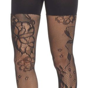 NEW SPANX Fishnet Floral Shaping Tights